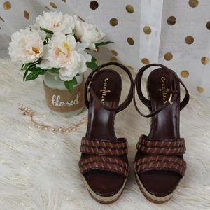 Cole Haan Brown Strapped Heels